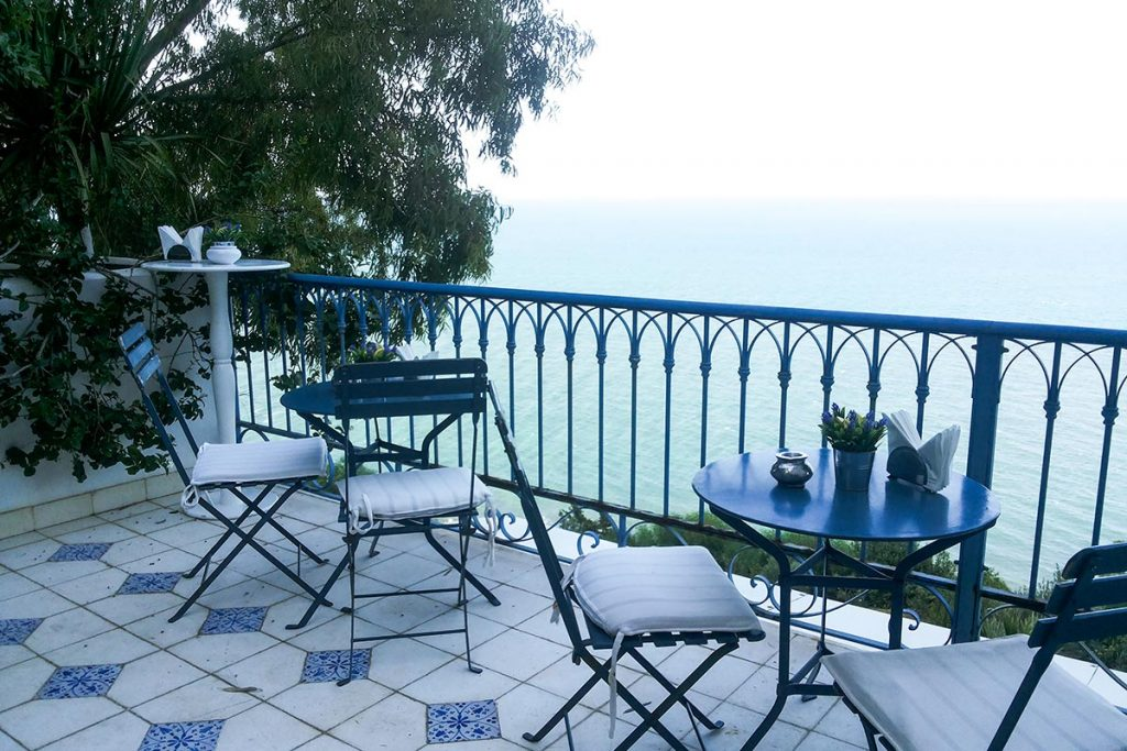 TerrasseLa Villa Bleue Sidi Bou Saïd