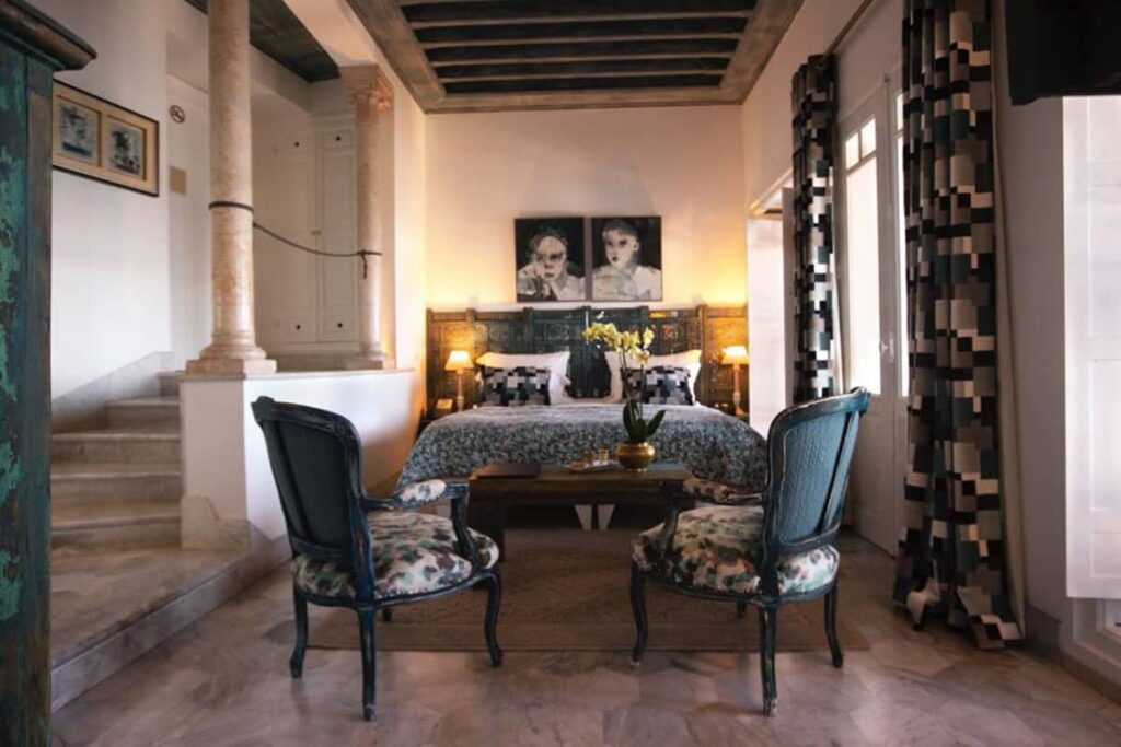 Chambre supérieure la Villa Bleue Sidi Bou Saîd